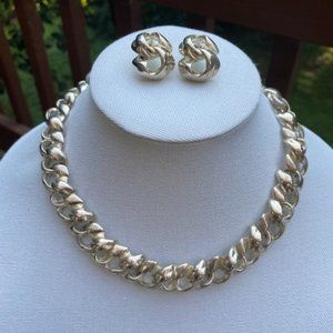 VTG GIVENCHY Silver Necklace and Earrings